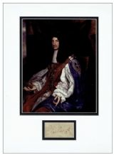 King Charles II Autograph Signed Display